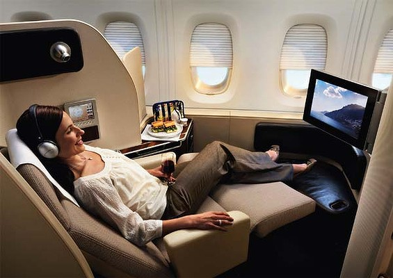 The luxury of first class travel.